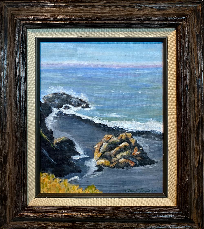 """""""The Rock"""" 7.5""""X9.5"""" Acrylic by Mary Neufeld: $125"""