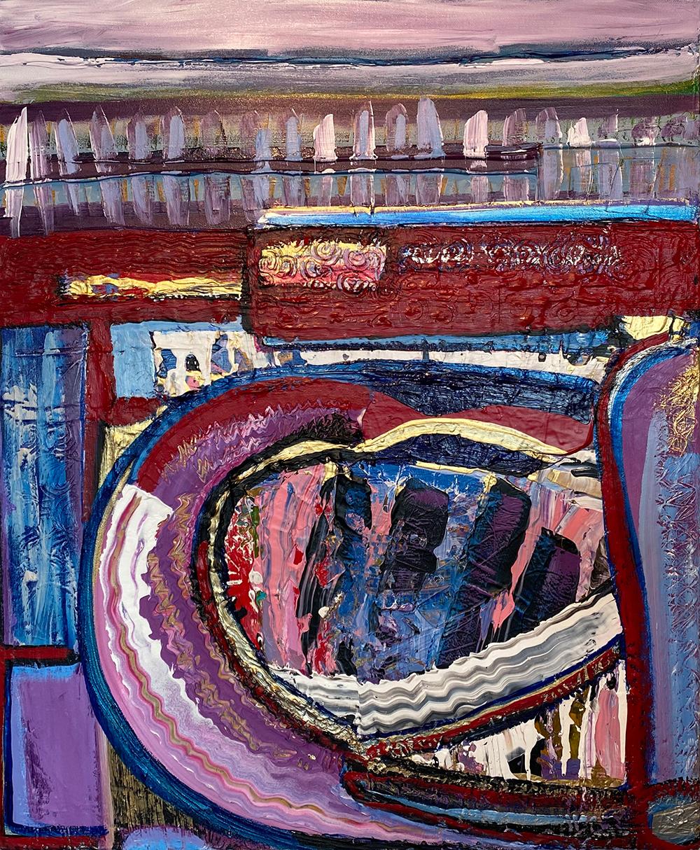 """XOXO"" Acrylic by Donna Attar: $300"