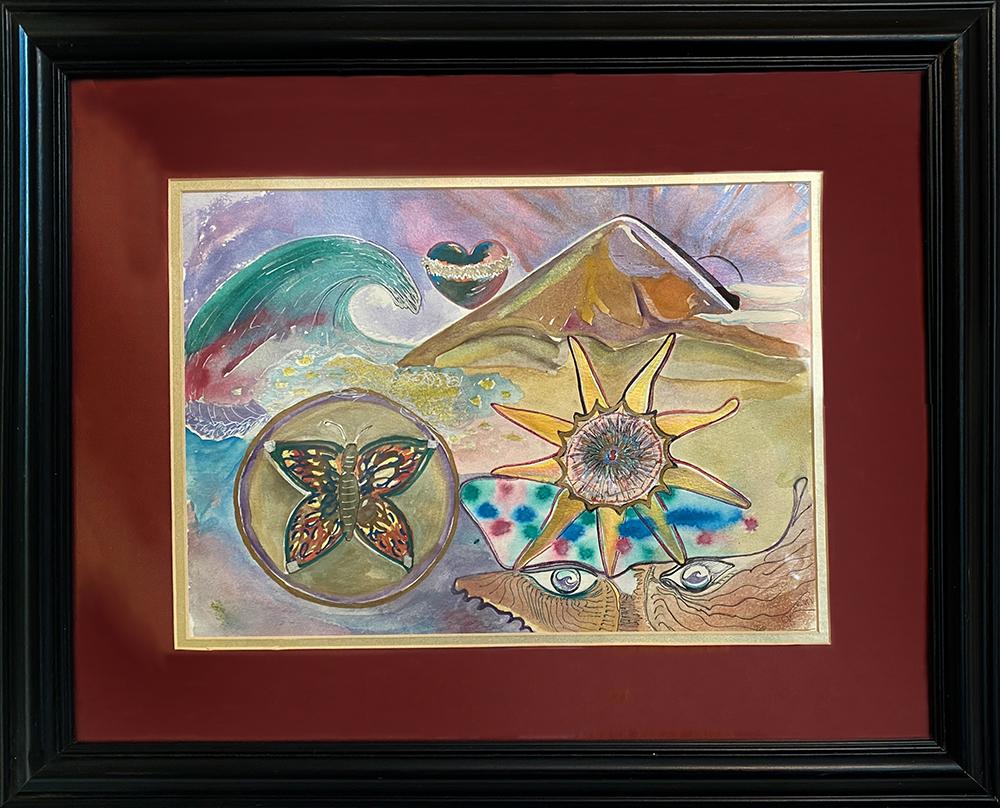 """""""Janna's Dream"""" Watercolor and Mixed Media by Venessa Kay"""