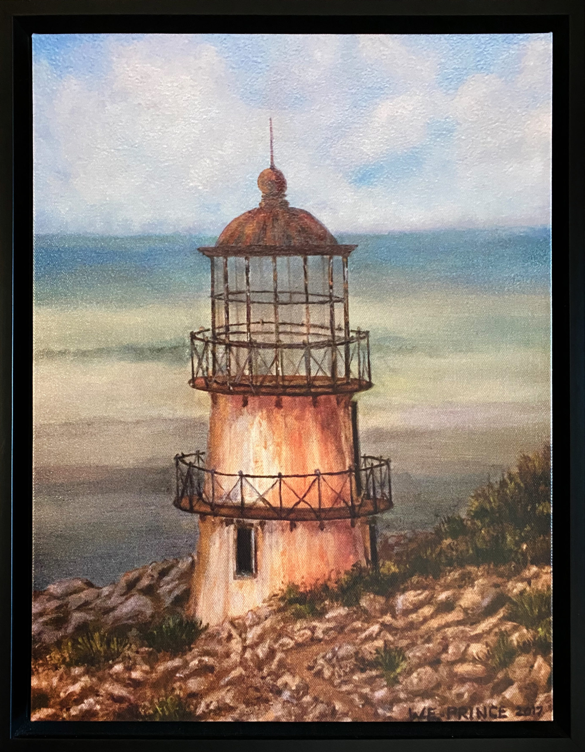 """North Coast Lighthouse"" Framed 12""x16"" Giclee by Walter Prince: $250"