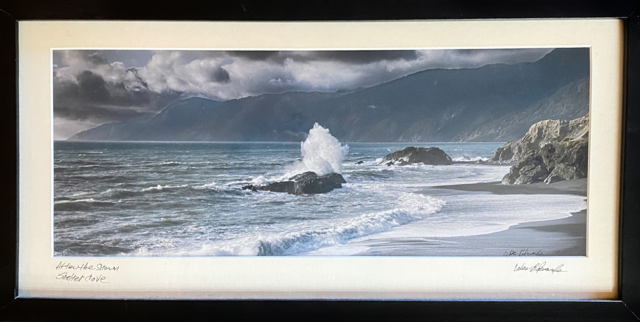 """""""Waves 2"""" Framed Photography by Wes Edwards for auction July 2020"""