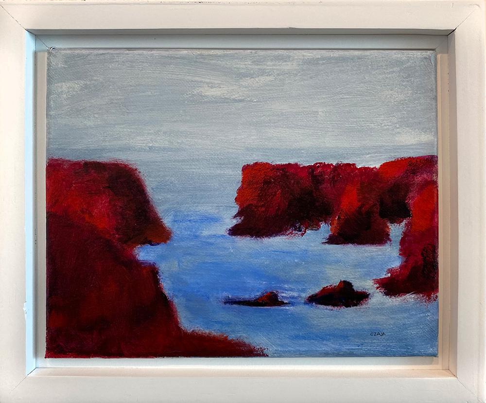 """Mendocino #5"" Framed 10""X8"" Acrylic by Brian Czaja: $200"