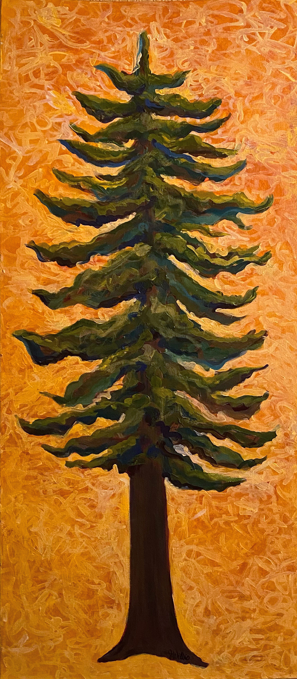 """Coastal Giant"" 16""X40"" Acrylic on canvas by Jessica Willis: $500"