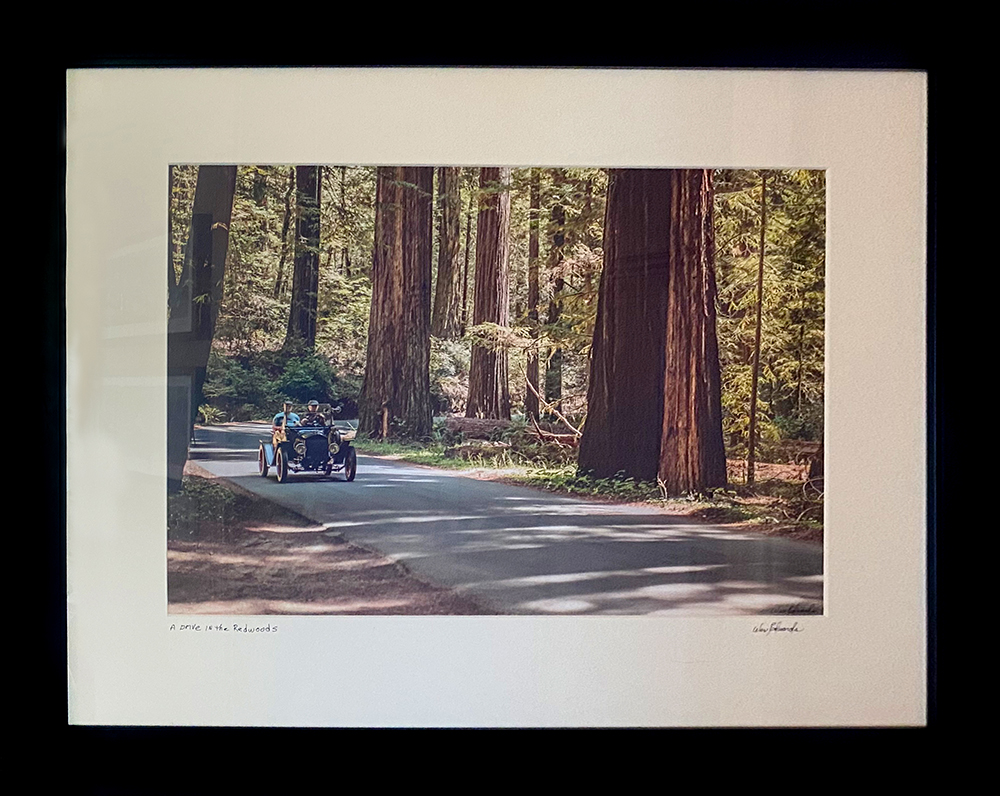 """Drive in the Redwoods"" 18.5""X12"" photo in 27""X21"" frame by Wes Edwards: $200"