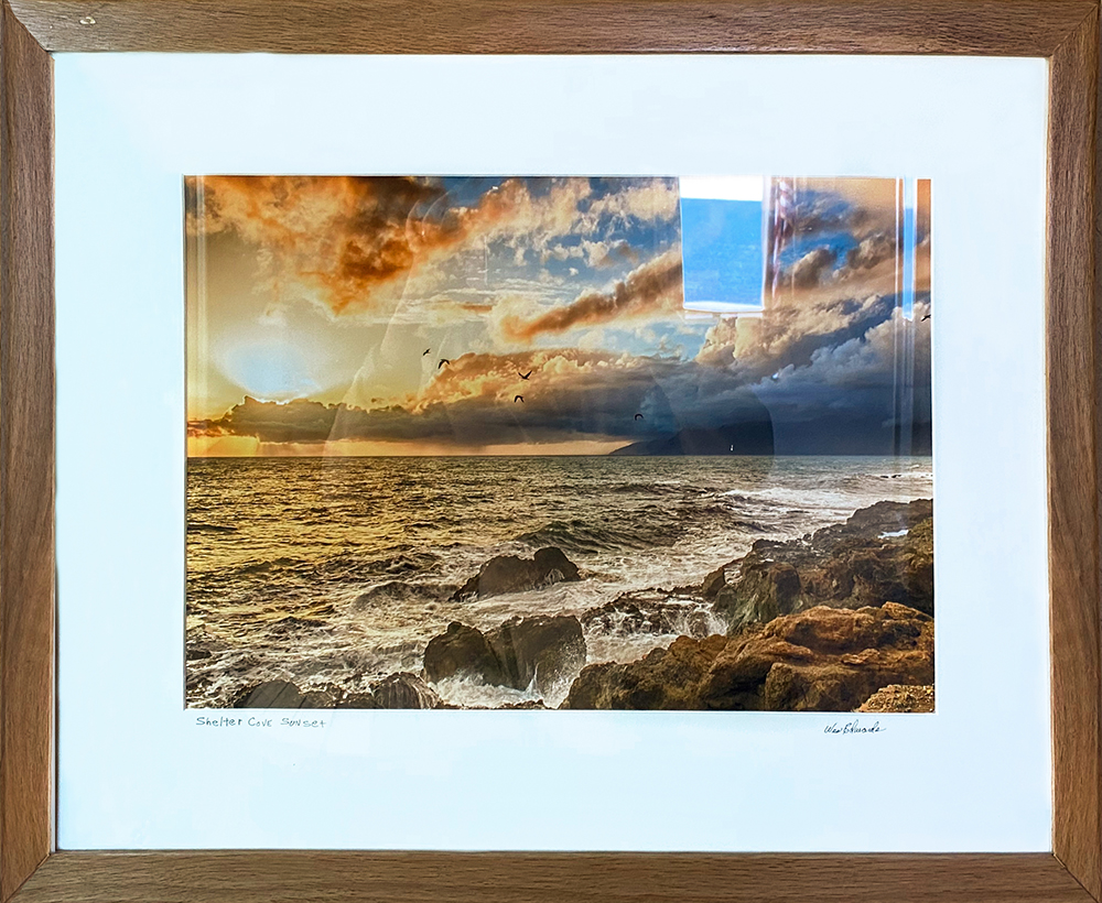 """Sunset"" 18.5""X12"" photo in 27""X21"" frame by Wes Edwards: $200"